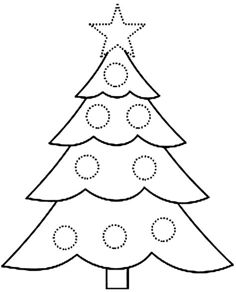 Printable Coloring Pages Of Christmas Tree