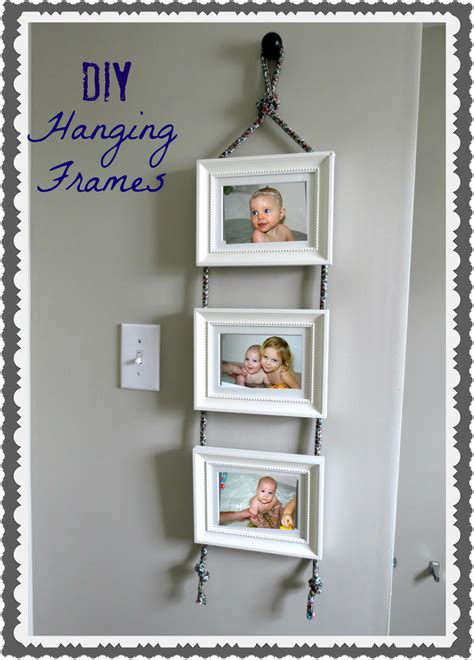 diy projects with picture frames diy hanging frames tutorial tatertots and jello