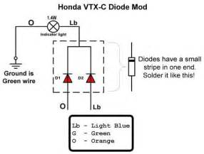 vtx 1800c diode fix 171 bareass choppers motorcycle tech pages