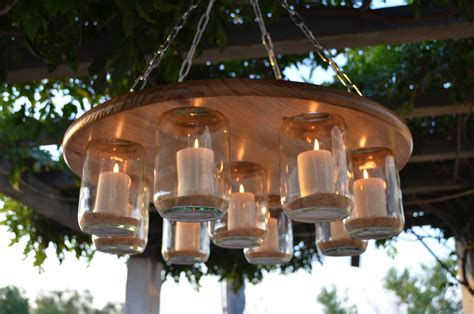 jar chandelier wedding patio decor rustic by