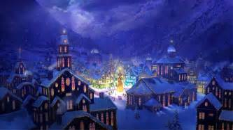 Hd christmas village wallpapers desktop