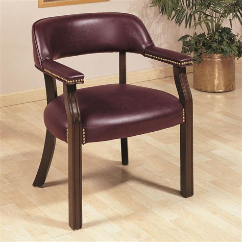 office chairs traditional upholstered vinyl side chair