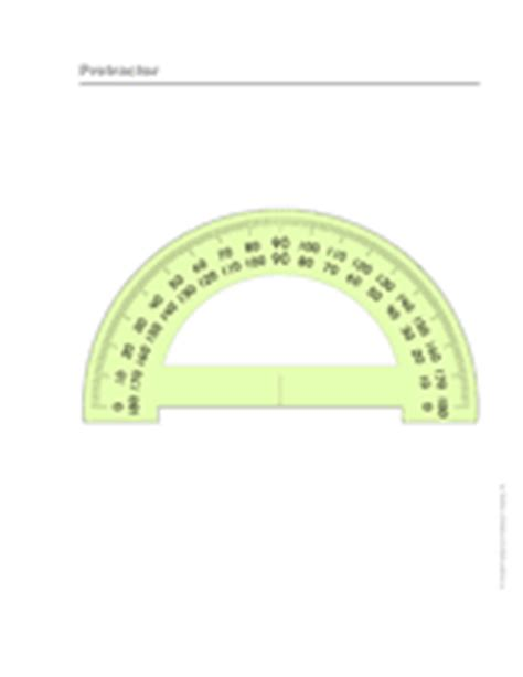 printable protractor small printable protractor measurement 3rd 6th grade