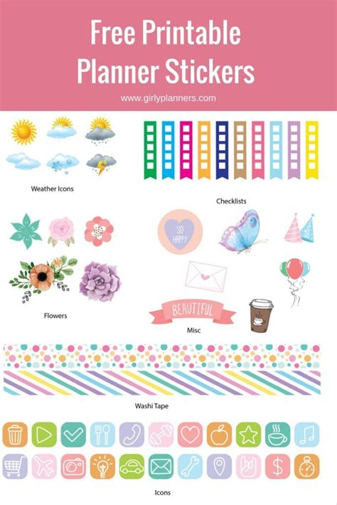 printable planner stickers 1000 images about planner on pinterest planner stickers
