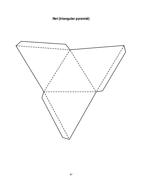 How To Make A Three Sided Pyramid Out Of Paper - 4 best images of triangular pyramid template printable