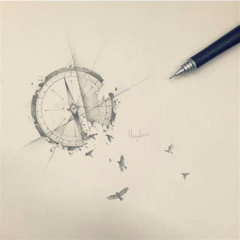 broken compass tattoo 1000 ideas about compass design on