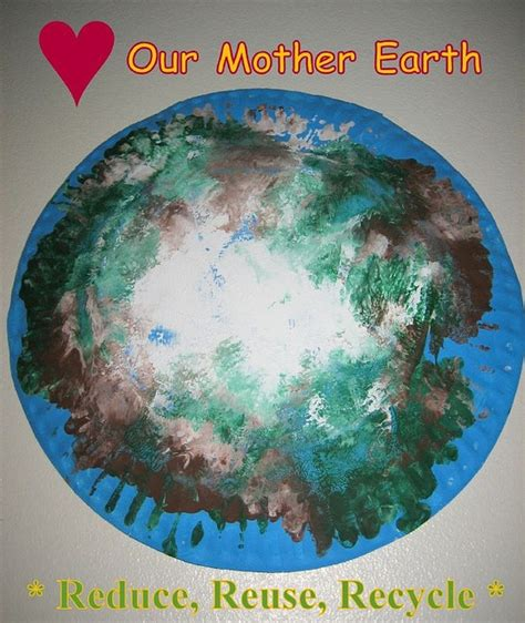 Earth Day Paper Crafts - paper plate earth day craft crafts activities