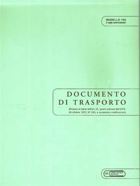 libreria giuridica bergamo documento di trasporto 2 copie a4 in catalogo