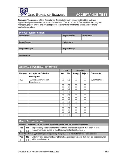 acceptance test report template uat testing template best business template