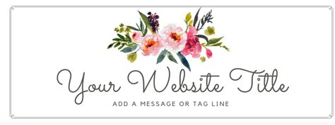 floral watercolor header with script