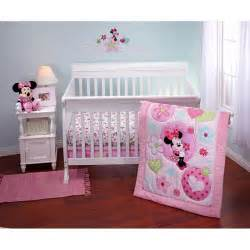 Minnie Mouse Crib Bedding Sets Disney Minnie Sitting Pretty 3 Crib Bedding Set Walmart