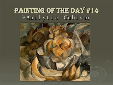 the establishment of cubism analytic cubism