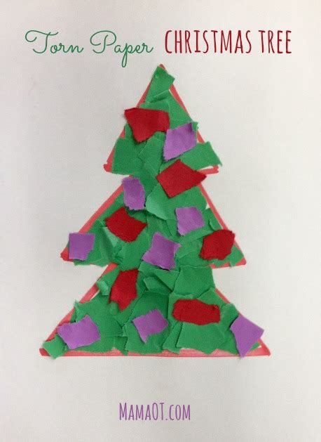 xmas tree activity out of construction paper decorating a construction paper tree www indiepedia org