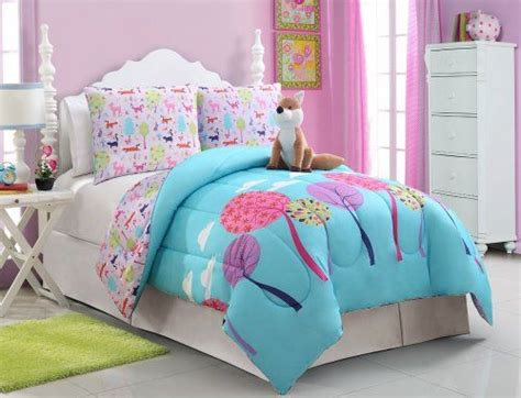 blue pink purple white full teen girls kids comforter set