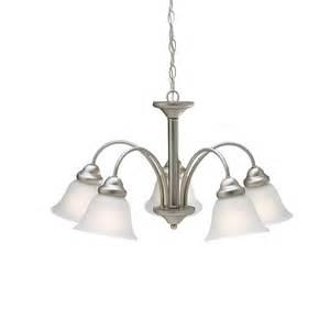 nickel chandelier lighting wynberg collection 5 light chandelier in brushed nickel