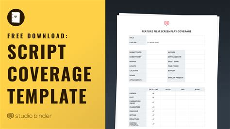 script coverage template your free filmmaking production documents and