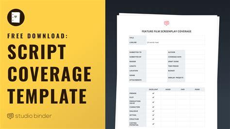 script coverage template free script coverage template studiobinder