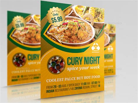 restaurant advertisement template indian restaurant flyer template by owpictures graphicriver