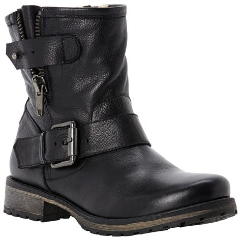 dune promey biker boots in black lyst