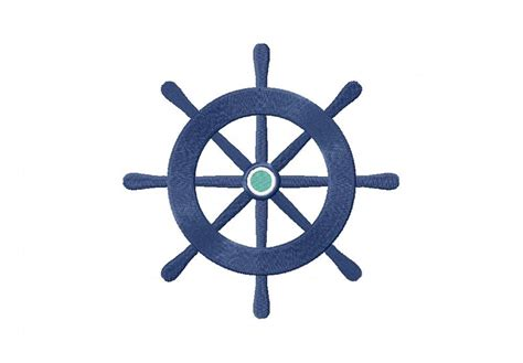 nautical design nautical wheel machine embroidery design daily embroidery