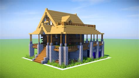 how to make minecraft houses minecraft big survival house tutorial minecraft how to