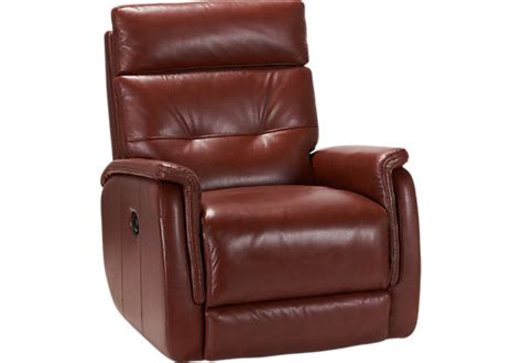 red recliner cindy crawford home adelino red leather recliner leather