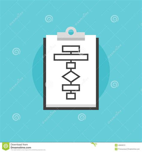 Flat Flow business flowchart process flat icon illustration stock