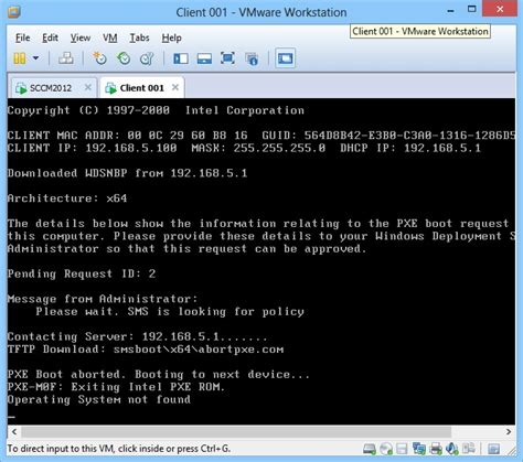sccm 2012 sp1 lab clients not finding mdt 2012 boot image