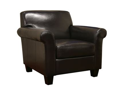 faux leather club chair black brown faux leather modern club chair new ebay