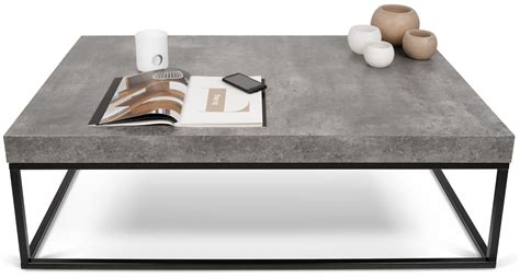 Concrete Coffee Table Top Concrete Top Black Coffee Table 9500 625138 Tema Home