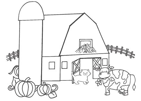barn coloring pages barnyard coloring pages