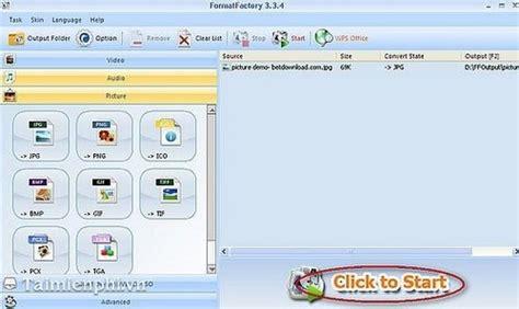 format factory full vn zoom chuyển đổi ảnh sang jpg bằng format factory