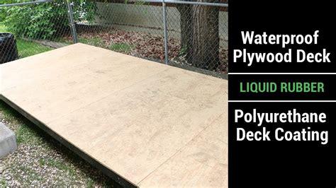 waterproof plywood deck liquid rubber polyurethane