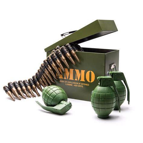 speelgoed leger legerspeelset met kogelriem munitiekist en granaten t