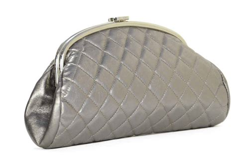 Chanel Clutch 118 Yr chanel metallic pewter quilted timeless clutch bag shw at
