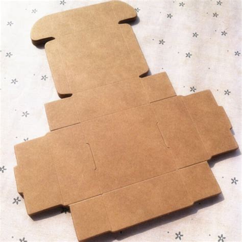 Craft Paper Gift Boxes - 3 3 2cm brown kraft craft paper jewelry pack boxes small