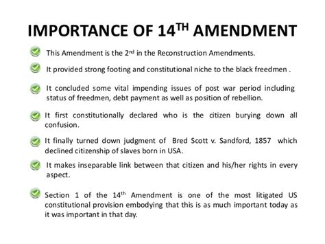fourteenth amendment section 1 14th amendment of usa constitution