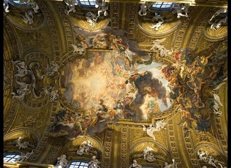 baroque ceiling 5 roman ceilings better than the sistine chapel huffpost