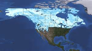 snow coverage map canada canada snow cover map images