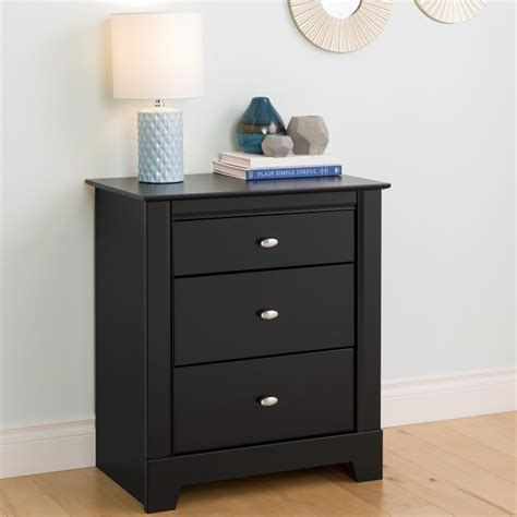 3 Drawer Black Nightstand by 3 Drawer Nightstand In Black Finish Bdnh 0339 1