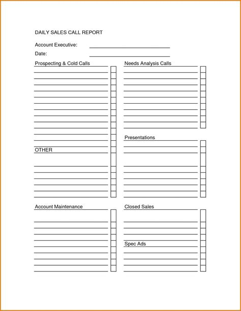 sales visit report template word yoga spreadsheet