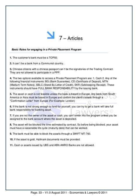 Ubs Bank Letter Of Credit placement program economists lawyers ebook 1 0