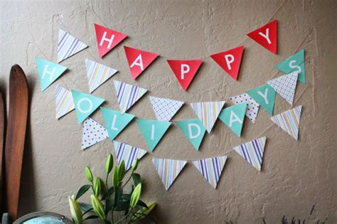 How To Make A Paper Pennant Banner - diy basics pennant flag banners free printables