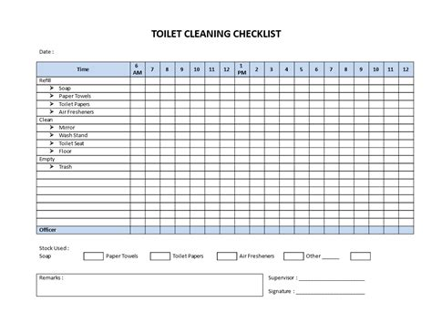 Commercial Bathroom Cleaning Checklist Template by Free Restroom Cleaning Checklist Model Templates At