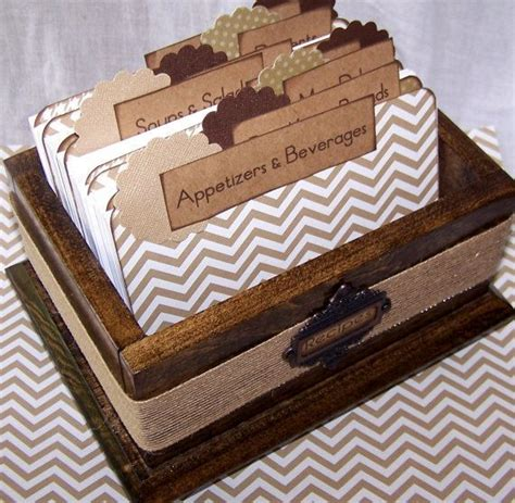 Handmade Recipe Box - 17 best images about recipe boxes on secret