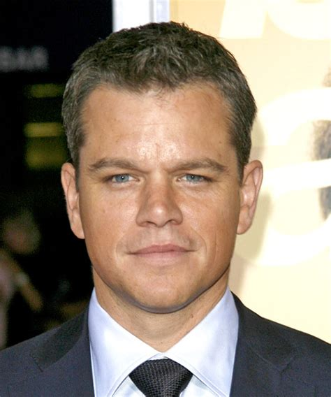 Matt Damon Short Straight Formal Hairstyle