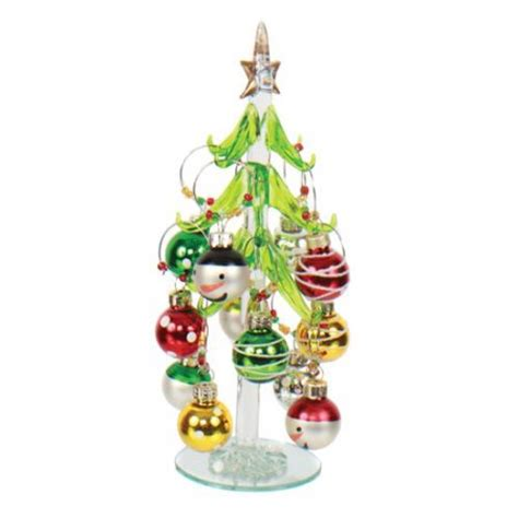 dei merry and bright tree and snowman ornament wine charm