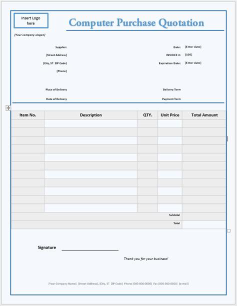 sample training quotation resume template