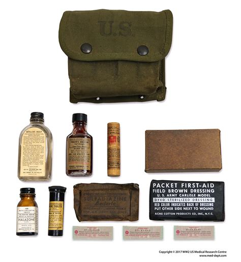 aid kit medicine contents individual aid kits ww2 us research centre