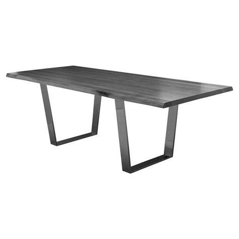 grey oak dining table cogsworth industrial grey oak black dining table 78w